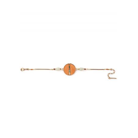 Bracelet souple solaire plumes et amazonite | orange73264