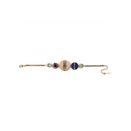 Beautiful feather crystal flexible bracelet |blue73270