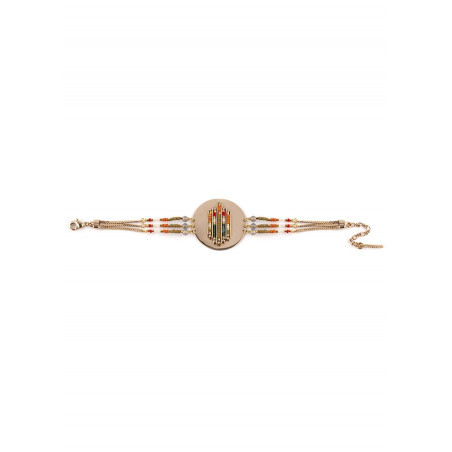 Bracelet souple bohème labradorite et perles du Japon | kaki73284