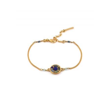 Bracelet souple moderne apatite perles du Japon   bleu
