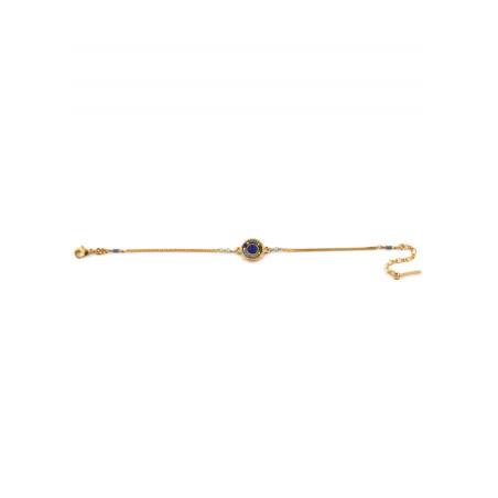 Bracelet souple moderne apatite perles du Japon   bleu73286