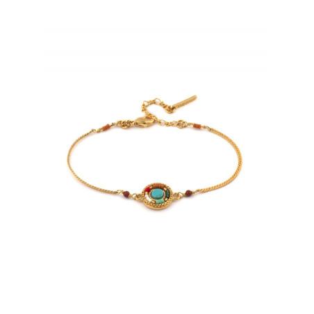 Bracelet souple pop jaspe perles du Japon   multicolore