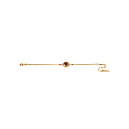 Glamorous carnelian and Japanese bead flexible bracelet| green73292