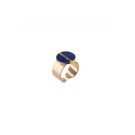 Elegant feather adjustable ring | blue