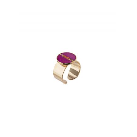 Feminine feather adjustable ring   pink