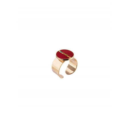 Glamorous feather adjustable ring | red