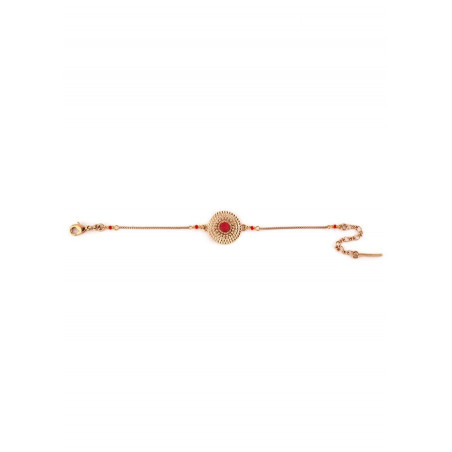 Sunny gold-plated metal and lacquered metal slim bracelet   red73532
