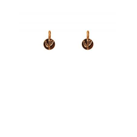 Elegant feather and Japanese bead sleeper earrings Japanese l brown