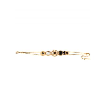 Bracelet mode nacre et cristaux   noir74487