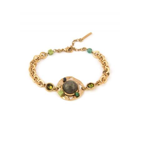 Glamorous jade and aventurine flexible bracelet | Green