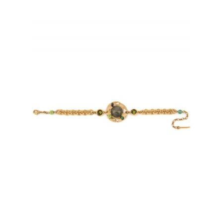Glamorous jade and aventurine flexible bracelet | Green74902