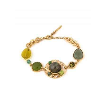 Poetic jade, aventurine crystal flexible bracelet l green