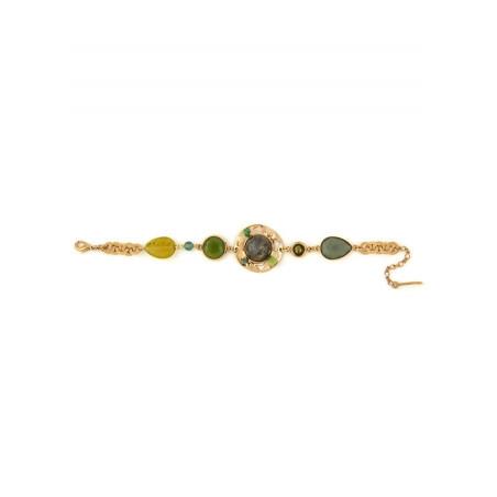 Poetic jade, aventurine crystal flexible bracelet l green74914