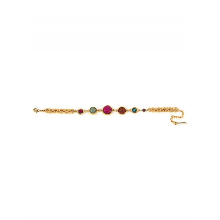 Pop garnet, jasper crystal flexible bracelet l multicoloured74961