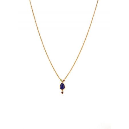 Modern carnelian garnet and peridot pendant necklace | multicoloured