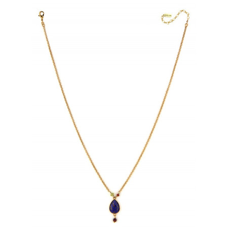 Modern carnelian garnet and peridot pendant necklace | multicoloured74974