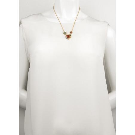 Collier pendentif glamour cornaline jade et jaspe | multicolore74990