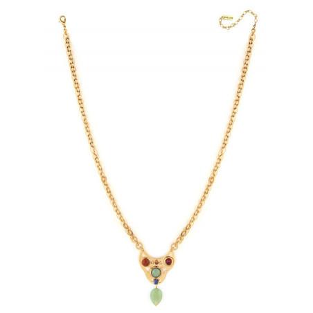 Fashionable aventurine and jasper pendant necklace | green75004