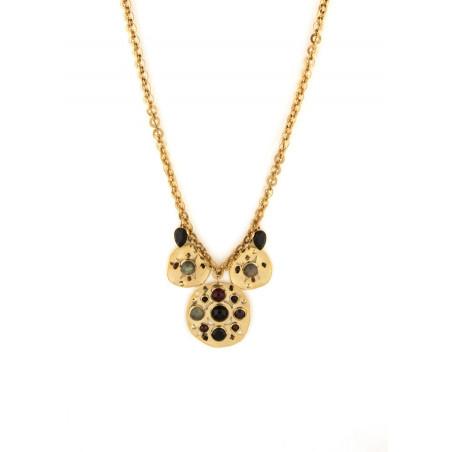 Glamorous garnet, onyx crystal sautoir necklace | black