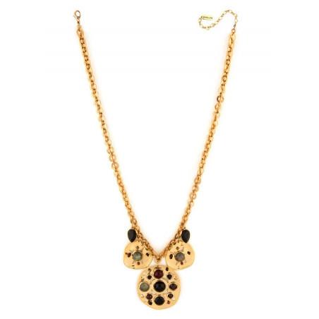 Glamorous garnet, onyx crystal sautoir necklace | black75089