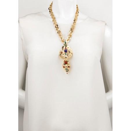 Pop jade, malachite and jasper sautoir necklace l multicoloured75110