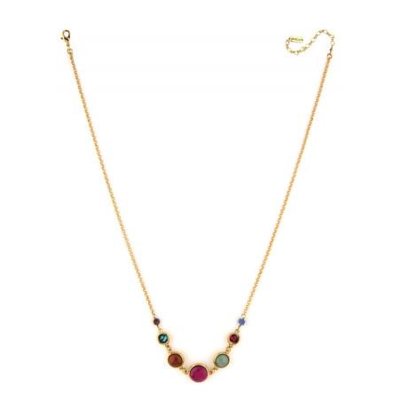 Feminine garnet and lapis lazuli mid-length necklace l multicoloured75139