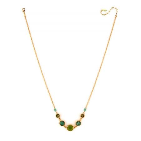 Poetic jasper aventurine and jade mid-length necklace l green75144