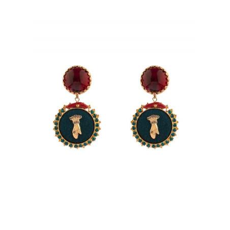 Boucles d'oreilles clips baroques main strassée | multicolore