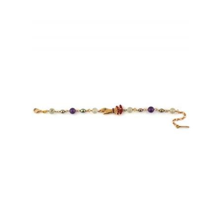 bracelet souple fantaisie perles et main strassée | multicolore75405