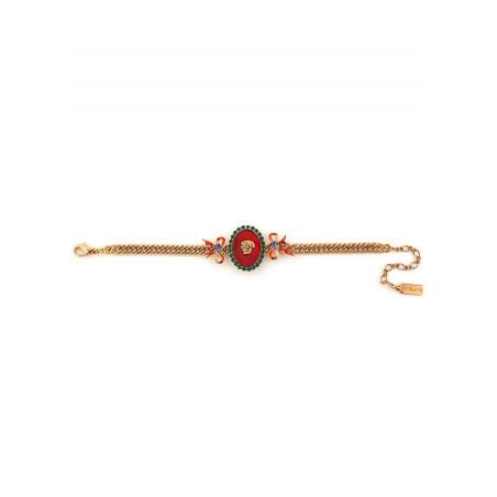 Bracelet souple baroque strass et tête de mort | multicolore75437