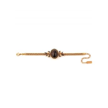 Bracelet souple sophistiqué rubans en métal laqué | noir75441