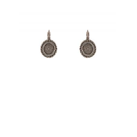 Boucles d'oreilles dormeuses modernes métal | argenté