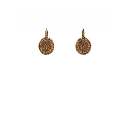 Feminine metal sleeper earrings | gold-plated