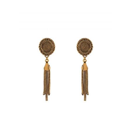 Boucles d'oreilles clips raffinées métal | doré
