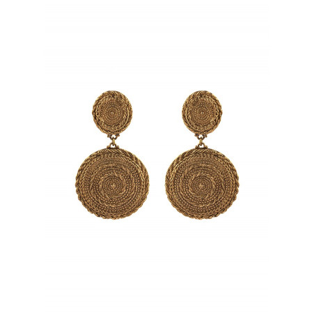 Chic metal clip-on earrings | gold-plated