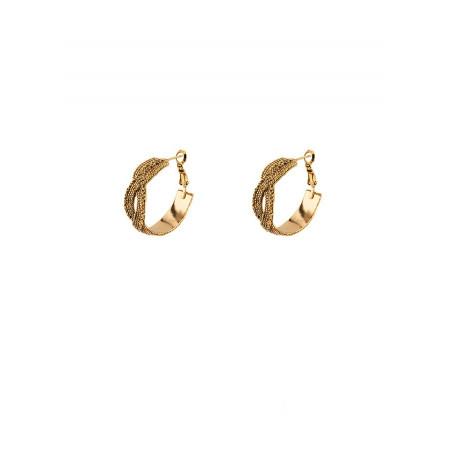 Elegant metal hoop earrings for pierced ears | gold-plated
