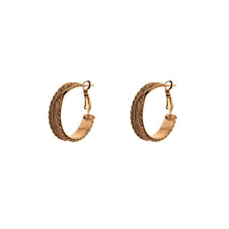 Boucles d'oreilles créoles percées glamour métal   doré