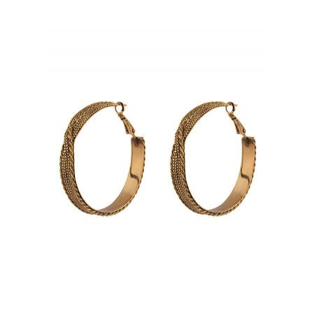 Fantasy metal hoop earrings for pierced ears | gold-plated