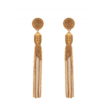 Vintage metal clip-on earrings | gold-plated