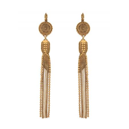 Boucles d'oreilles dormeuses vintage métal | doré