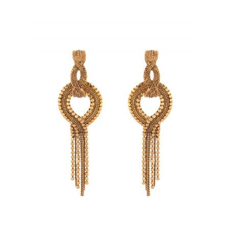 Boucles d'oreilles percées glamour métal | doré