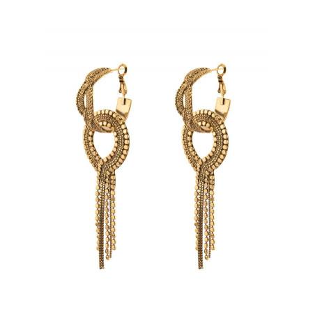 Boucles d'oreilles percées glamour métal | doré75792