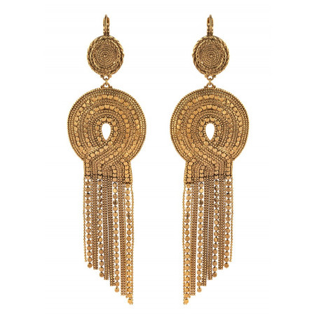 Festive metal sleeper earrings | gold-plated