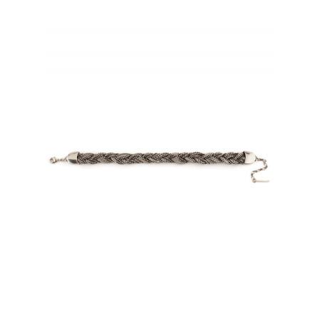 Bracelet souple glamour métal tressé   argenté75820