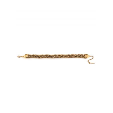 Feminine flexible plaited metal bracelet   gold-plated75824
