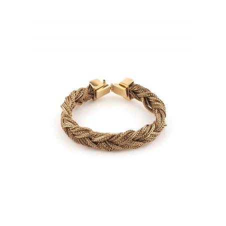 Bracelet souple chic métal tressé | doré