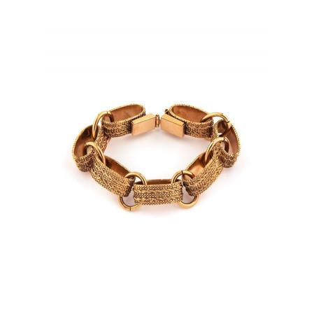 Bracelet souple raffiné métal | doré
