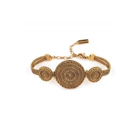 Bracelet souple élégant métal | doré
