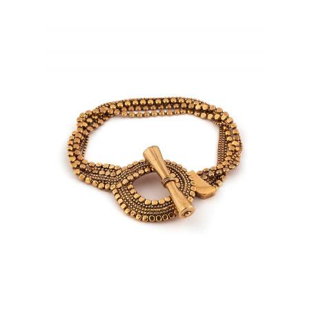 Small glamorous flexible metal bracelet | silver-plated