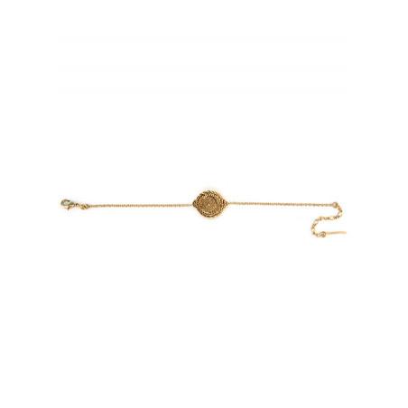 Bracelet souple solaire métal | doré